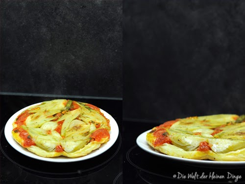 Tarte Tatin von Fenchel und Tomaten