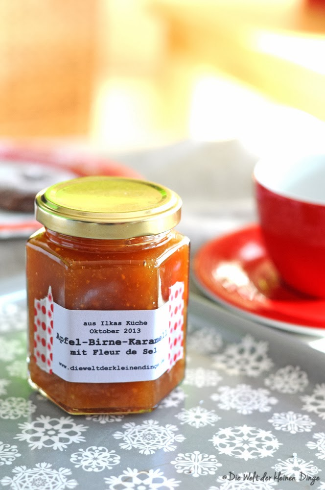 Die Welt der kleinen Dinge: Apfel-Birnen-Karamell-Marmelade mit Fleur de Sel