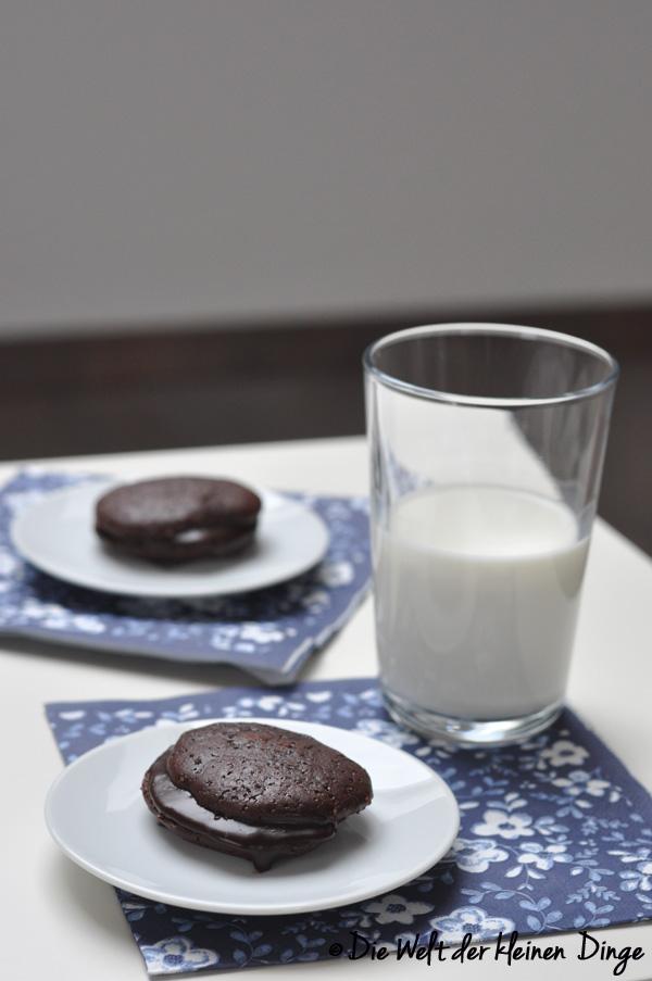 Schokolade, Kleingebäck, Whoopie-Pie, amerikanisch, Ganache
