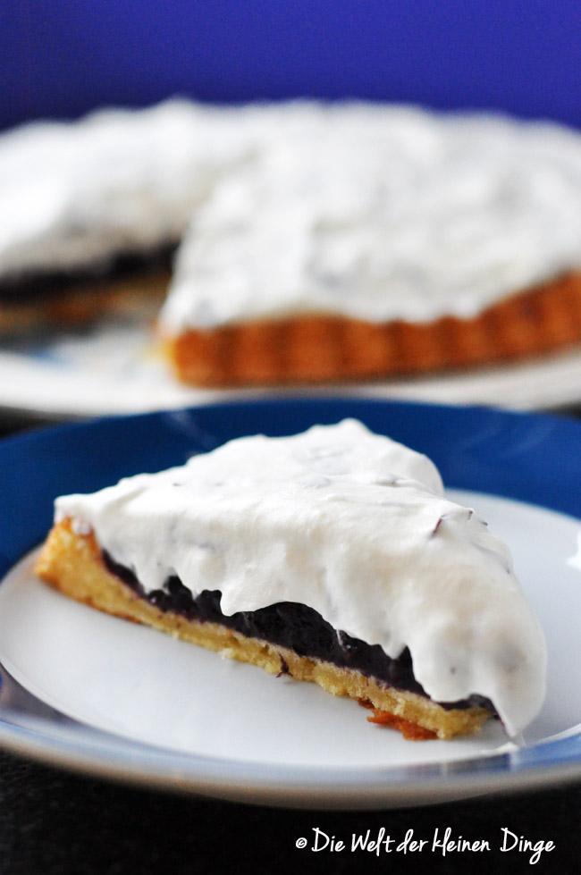 Schokokuss, Schokokusstorte, Torte, Heidelbeeren, Vanillepudding, Heidelbeerkompott