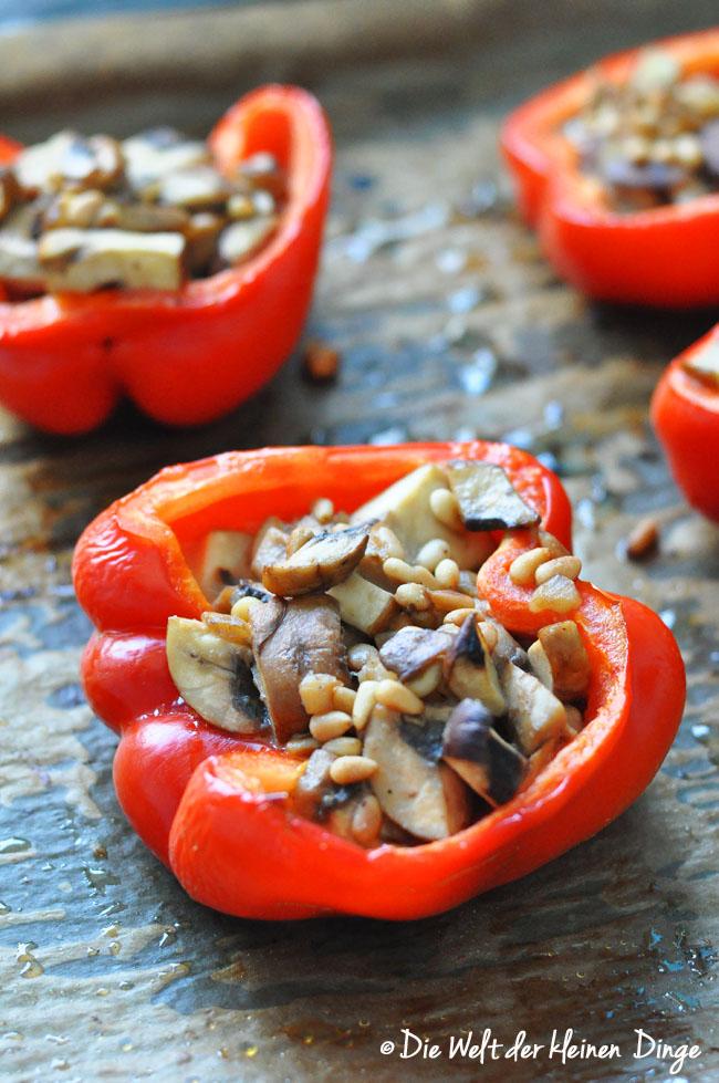 gefüllte paprika, stuffed peppers, ofengericht