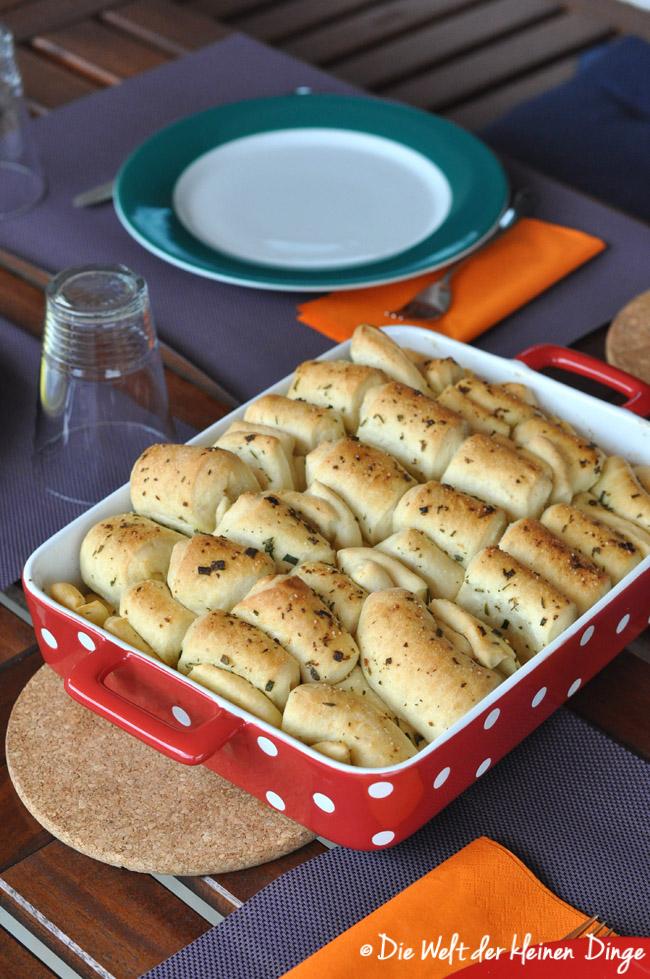 Kräuterfaltenbrot, Grillen, Rezepte, Brot, Beilage, vegetarisch