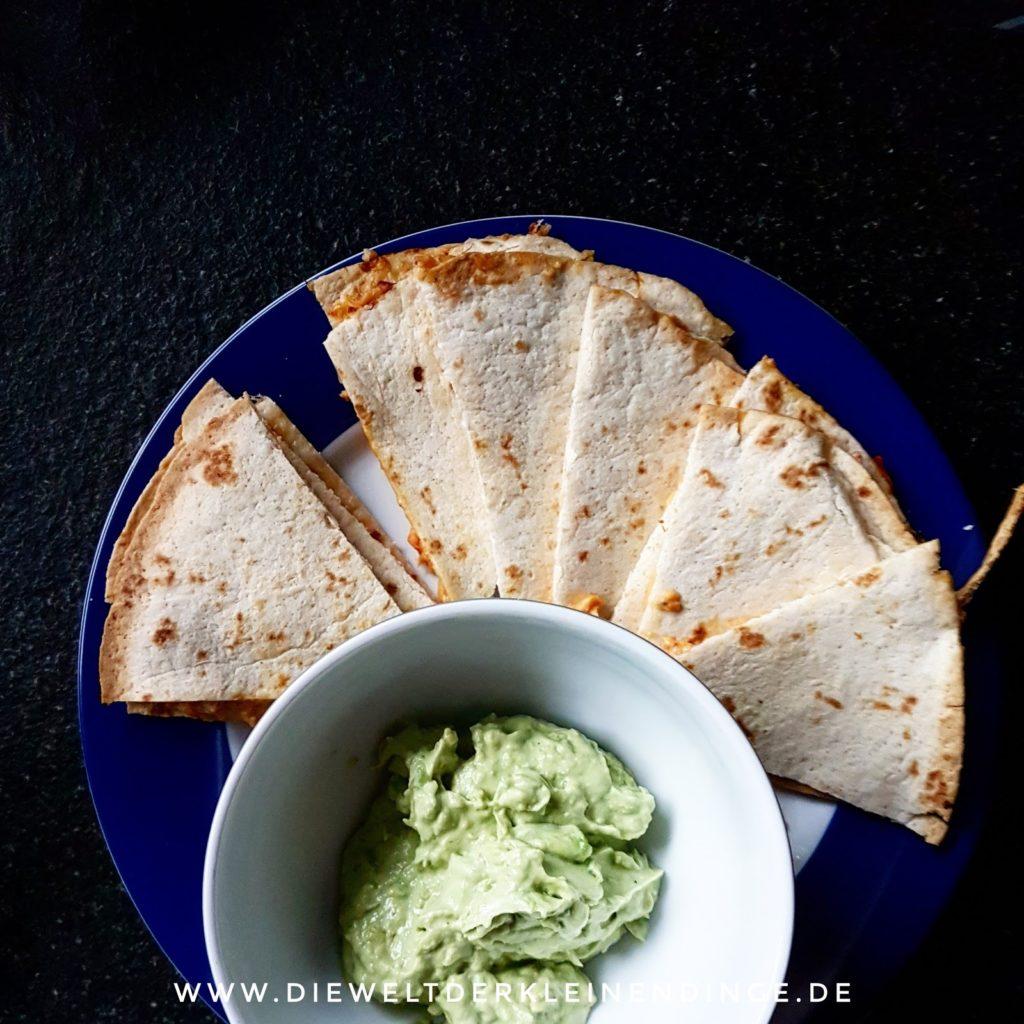 Quesadilla mit Guacamole