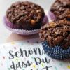 Saftige Schokomuffins mit zweierlei Schokolade